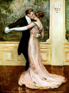 Last Waltz (1912). Clarence F. Underwood. Viennese postcard.